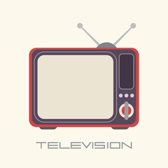 Retro TV vector icon