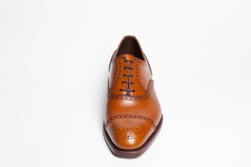 leather shoes on a white background