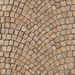 HQ seamless, tileable texture decorative cobblestone pavement.