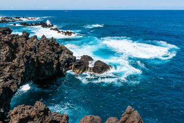 Beautiful North coast of madeira Porto Moniz.