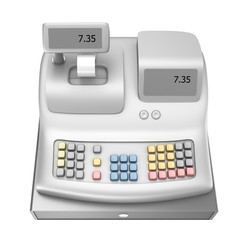 Cash register , isolated