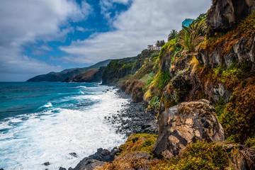 The tropical surf of the La Palma Coast