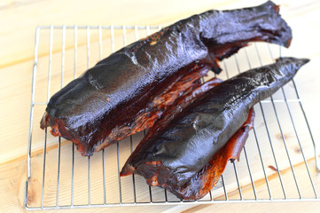 Smoked trout.