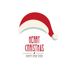 santa hat merry christmas isolated background