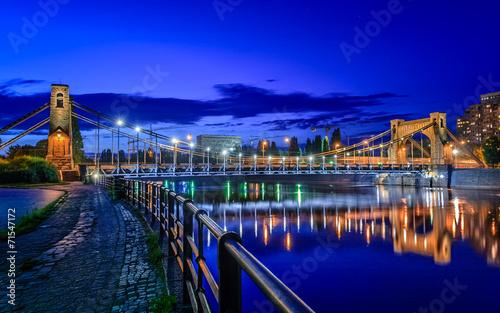Zdjęcia na płótnie, fototapety, obrazy : Wroclaw by night (Most Grunwaldzki)