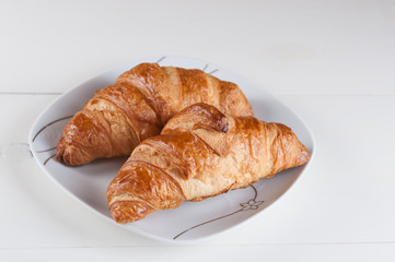 croissants light and tasty breakfast
