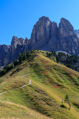 Mountainside in the Dolomites