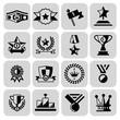 Award icons set black