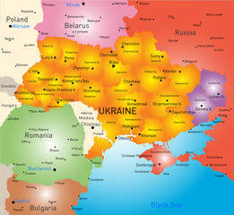 New map Ukraine