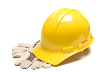 Hard Hat With Work Gloves
