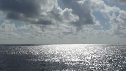 sun, clouds, water