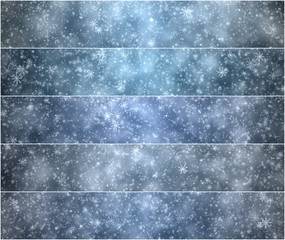 Winter Christmas banners, set falling snowflakes