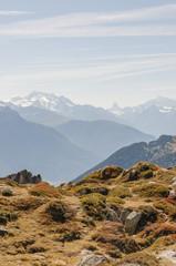 Bettmeralp, Dof, Walliser Berge, Bergpanorama, Schweiz