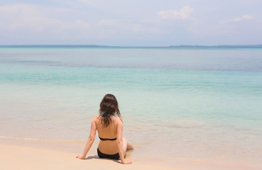 Woman on the beach, Panama
