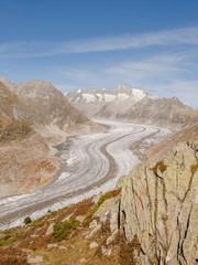Bettmeralp, Dorf, grosser Aletschgletscher, Schweizer Alpen