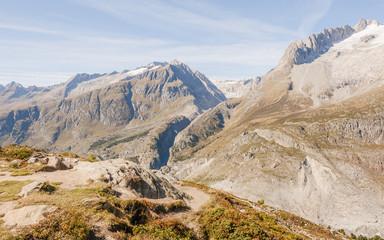Riederalp, Dorf, Fusshörner, Alpen, Aletschji, Schweiz