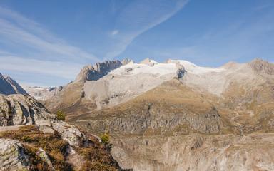 Riederalp, Dorf, Moosfluh, Walliser Alpen, Fusshörner, Schweiz