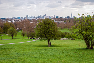 London, skyline panorama from Primrose Hill