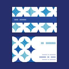 Vector blue marble tiles horizontal stripe frame pattern