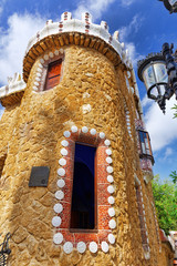 BARCELONA, SPAIN - SEPT 02,2014 :Gorgeous and amazing Park Guel