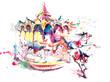 Leinwanddruck Bild - carrousel