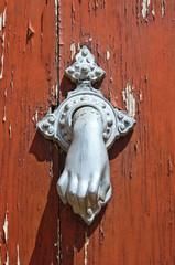 Doorknocker. Brienza. Basilicata. Italy.