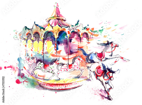 Papiers peints Attraction parc carrousel