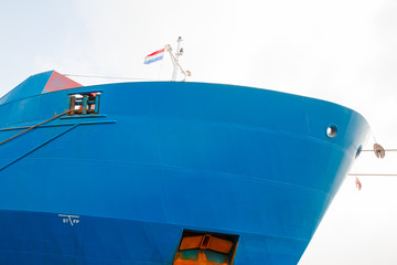 Front of a large ship