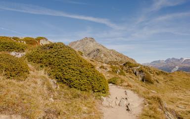Bettmeralp, Dorf, Bettmerhorn, Walliser Alpen, Herbst, Schweiz