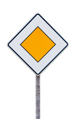 European priority road sign