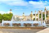 Fountain of Montjuic and Plaza de Espanya. Barcelona poster