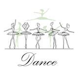 Vector illustration with fragile dancers in dance