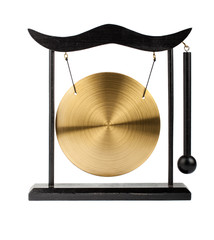 Decorative bronze gong