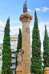 Beautiful historical landscape of the  Barcelona, Catalonia, Spa