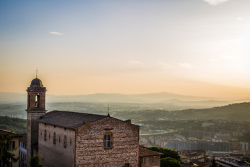 View landcape of Perugia, Italy