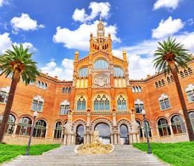 Hospital Sant Pau Recinte Modernista. Barcelona, Catalonia, Spai