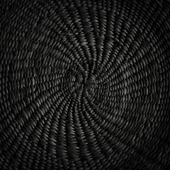 Black grunge abstract background, circular ornamental texture