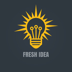 Light bulb concept. New idea vector design template.