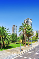 BARCELONA, SPAIN - AUGUST  28, 2008: Beautiful landscape of the