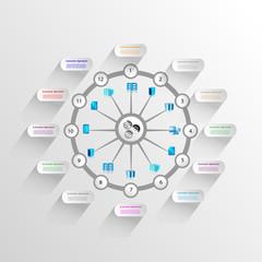 Enterprise application Integration and technology Infographics