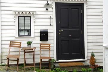 façade d'une maison norvegienne