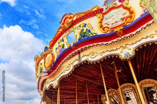Carousel. Horses on a carnival. - 71553706