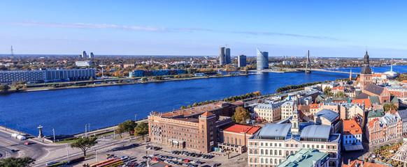 Panoramic scenery Riga