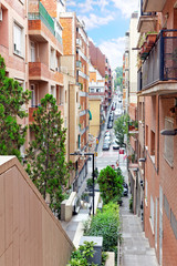 Beautiful landscape of the urban view Barcelona, Catalonia, Spai