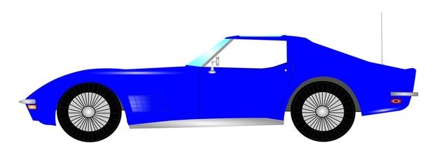 1960s sorts car in blue