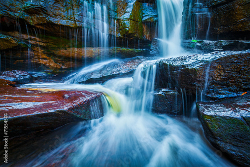 Fotobehang Overige Tropical waterfall