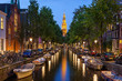 canvas print picture - Amsterdam canals