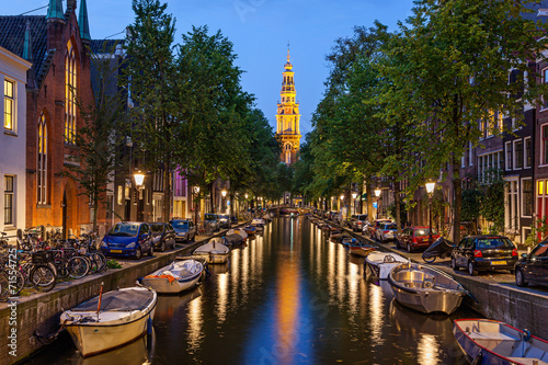 Poster Amsterdam canals