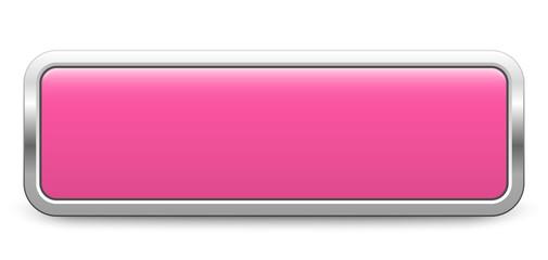 Long rectangular template - light pink metallic button