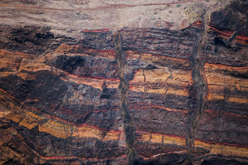 Slice of the earth's crust